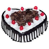Heart Blackforest Cake