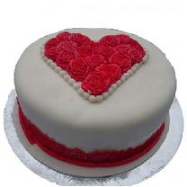 Designer Rose Heart Cake