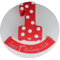 Lovely Red Cake For Kids