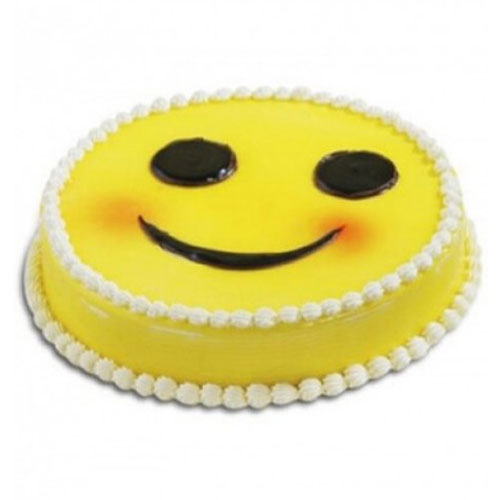 smiley-chocolaty-sponge-with-cream-cake