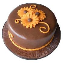 Chocolate Cake With Sunflower