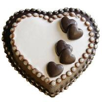 Double Heart Chocolate Cake