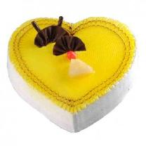 Pineapple Heartshape Cake