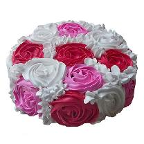Creamy Colorful Rose Cake
