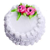 Vanilla Cake With Flower