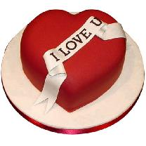 Special Red Valentines Cake