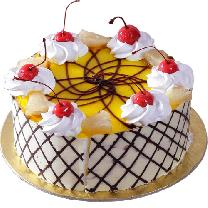Round Pineapple Cake N Cherry