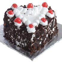Black Forest Cake In Heart