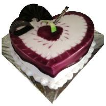 Blueberry Heart Cake
